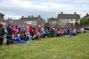 Spectators enjoying the action